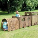 Outdoor Wicker Train and Carriage